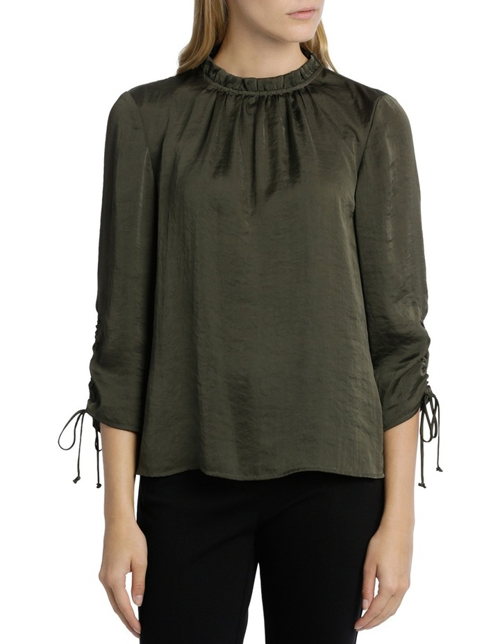 Ruch Sleeve High Neck Bruised Poly Top image 1