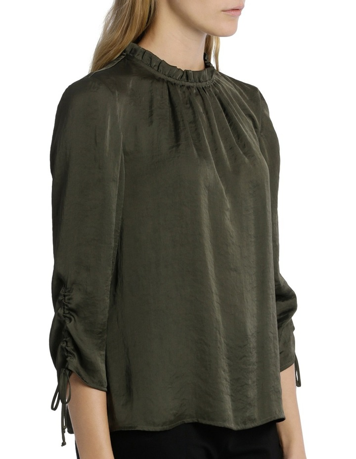 Ruch Sleeve High Neck Bruised Poly Top image 2