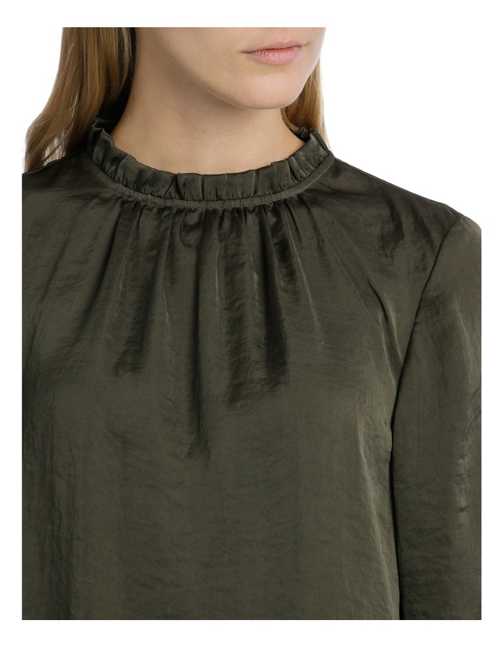 Ruch Sleeve High Neck Bruised Poly Top image 4