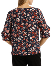 Basque - Ruffle Sleeve Top Print
