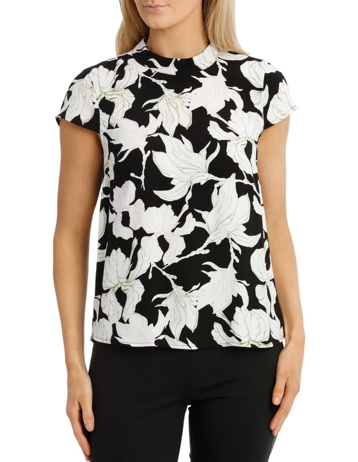 Printed High Neck Top image 1