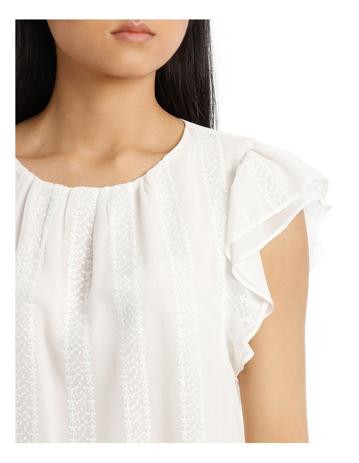 Embroidered Ruffle Sleeve Top image 4