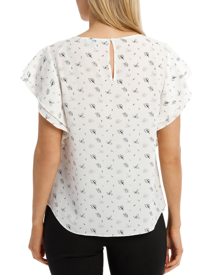 Must Have Double Flutter Sleeve Top Print image 3