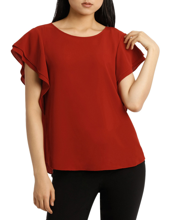Must Have Double Flutter Sleeve Top image 1