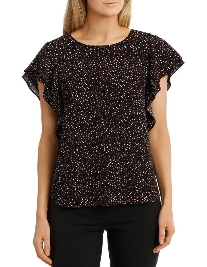 Must Have Double Flutter Sleeve Top Print image 1