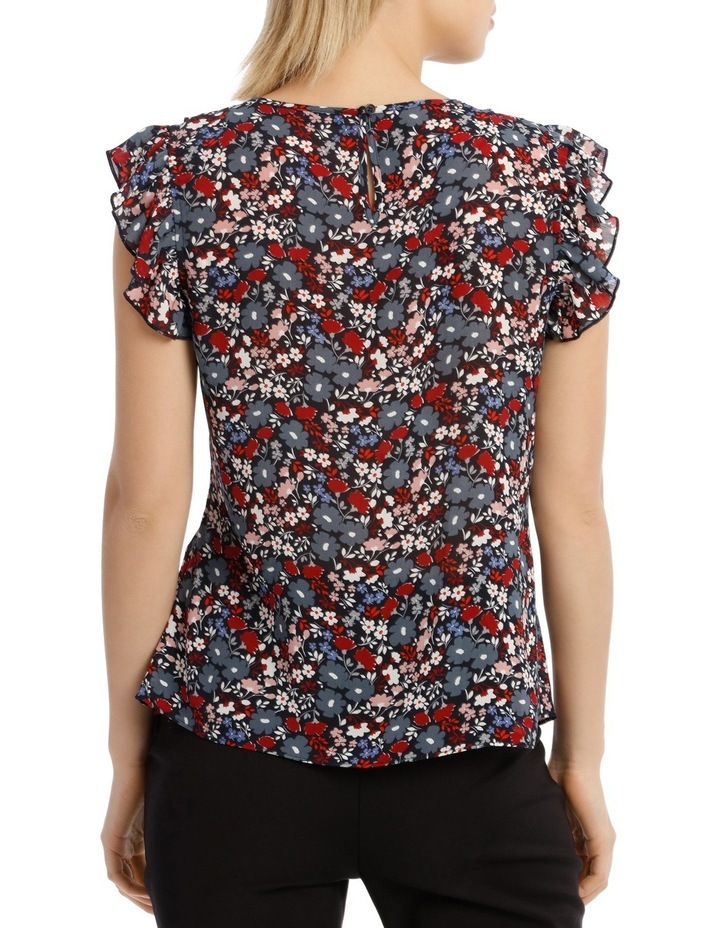Scattered Floral Pintuck Sleeveless Top image 3