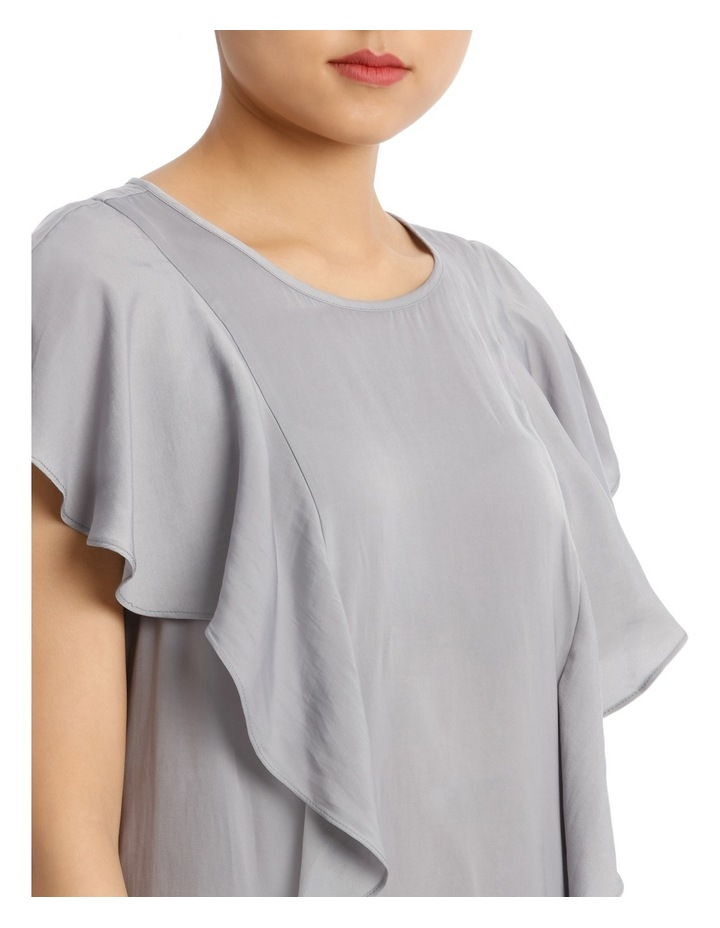 Ruffle Front Bruised Poly Top image 4