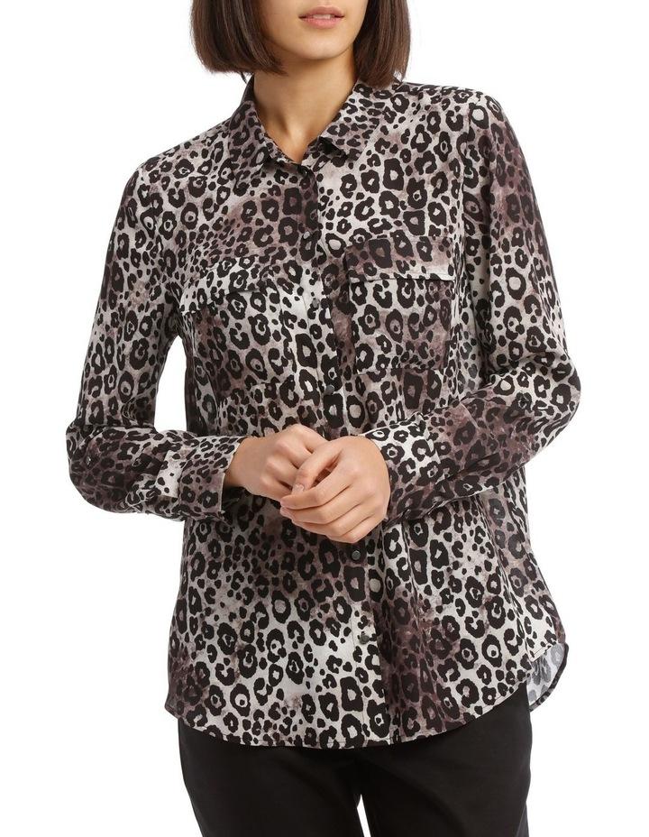 Smudged Animal Double Pocket Shirt image 1
