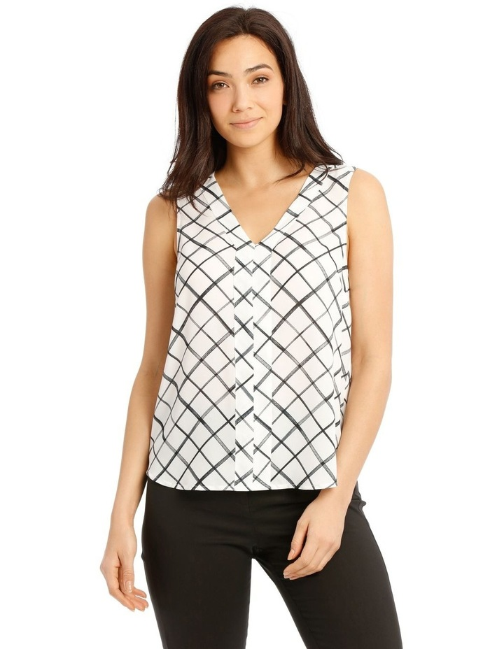 Sleeveless Panel Front Top image 1