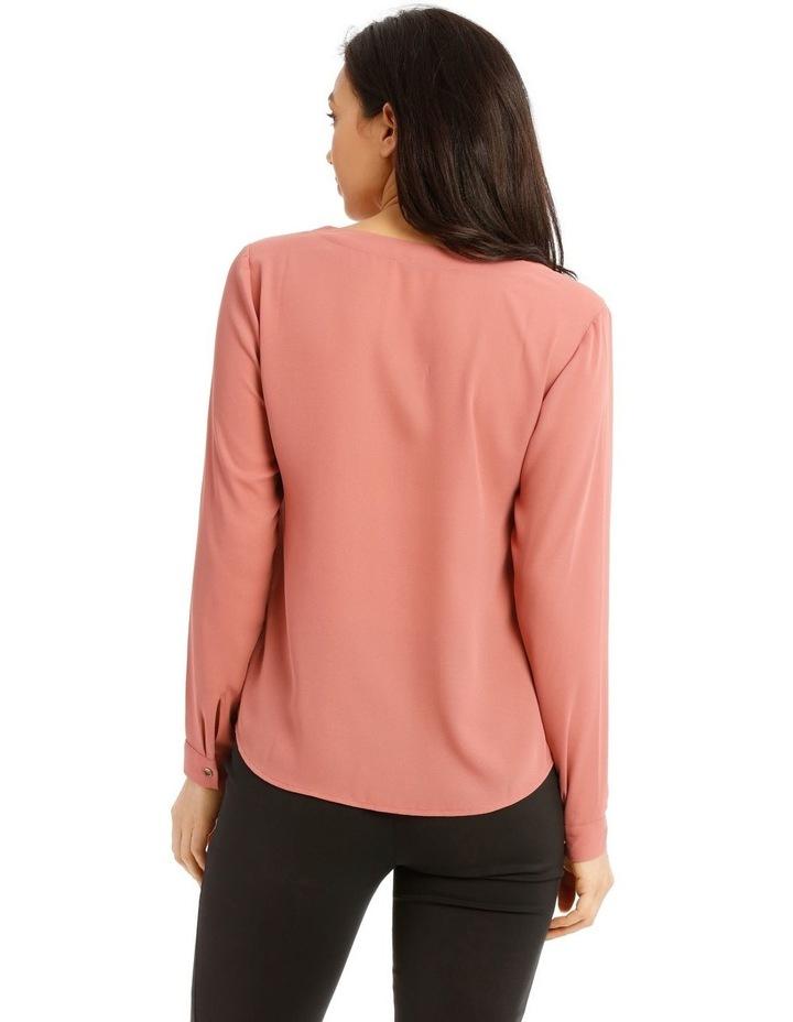 Panelled Front V-Neck Blouse image 3