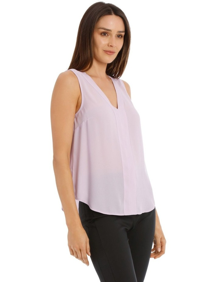 Sleeveless Panel Front Top image 2
