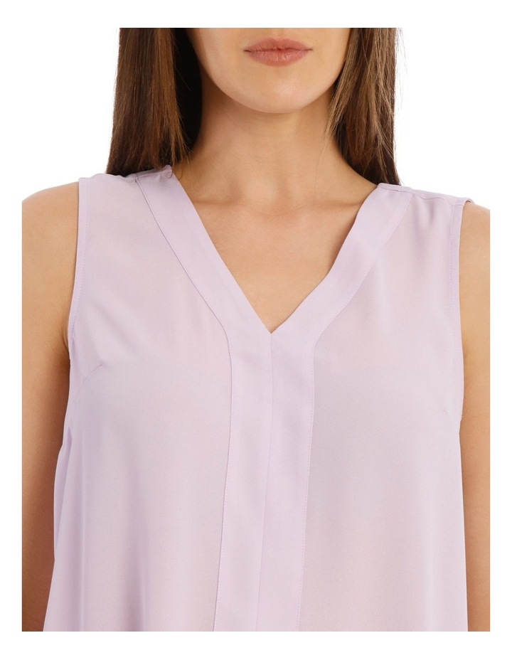 Sleeveless Panel Front Top image 4
