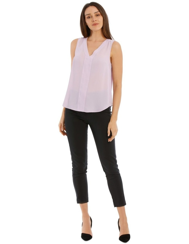 Sleeveless Panel Front Top image 5