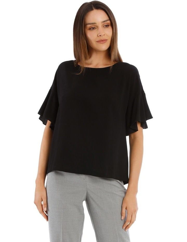 Flutter Sleeve Boxy Top image 1