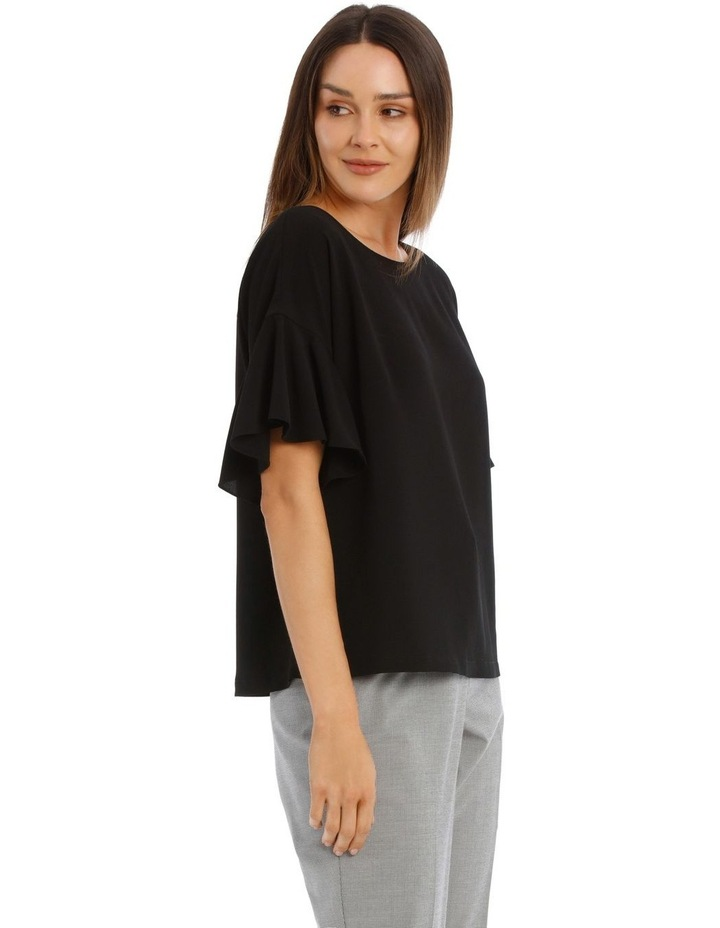 Flutter Sleeve Boxy Top image 2