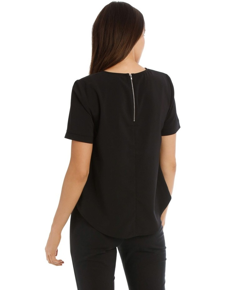 Elbow Sleeve Zip Back Top image 3