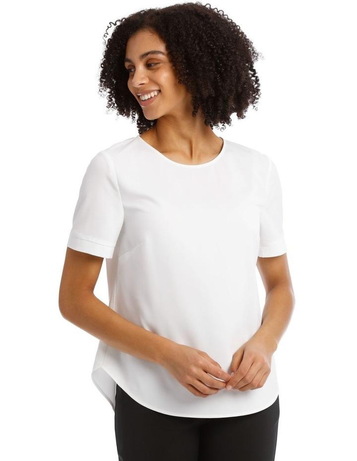 Elbow Sleeve Zip Back Top image 1