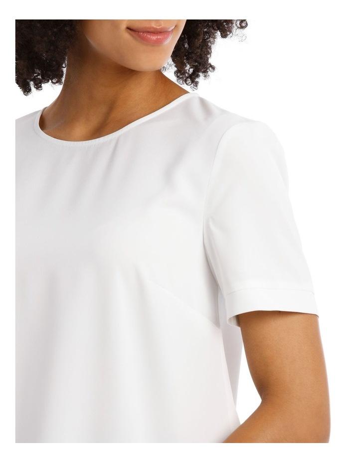 Elbow Sleeve Zip Back Top image 4