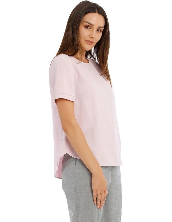 Elbow Sleeve Zip Back Top image 2