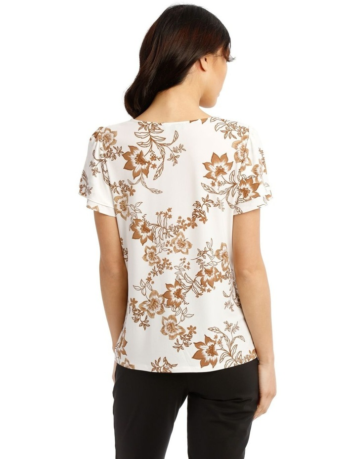 Jersey Double Flutter Sleeve Top image 3