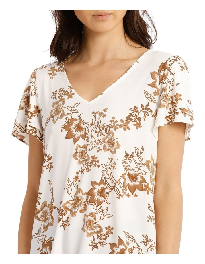 Jersey Double Flutter Sleeve Top image 4