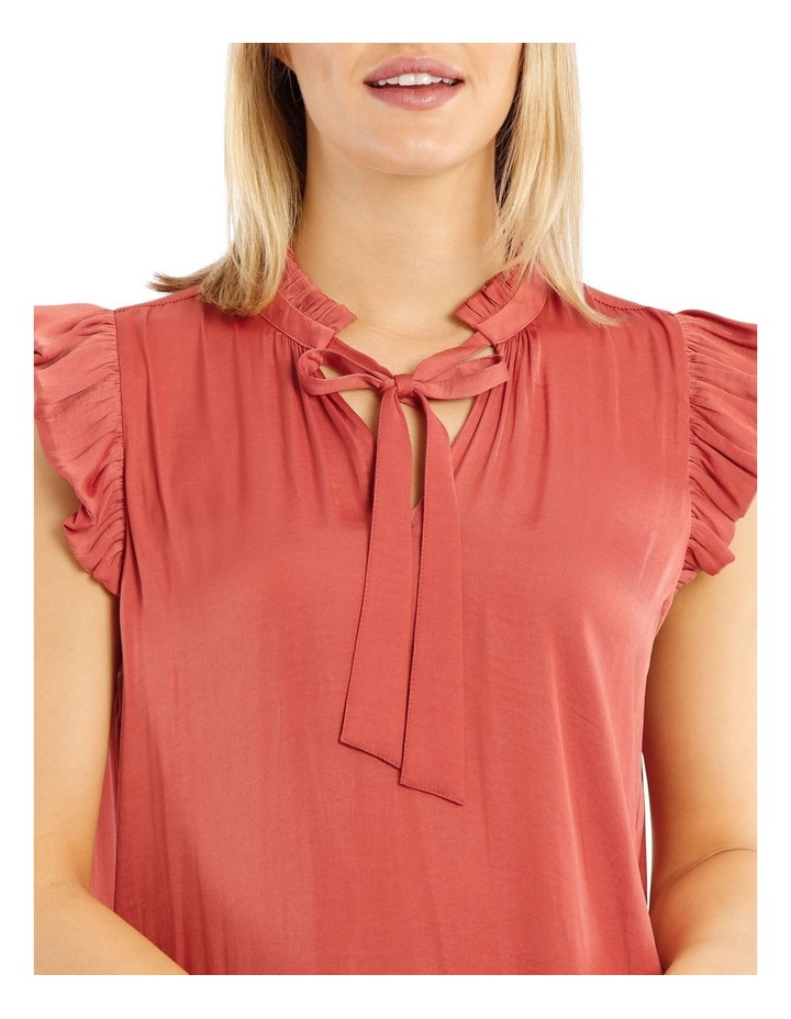 Bruised Poly Tie Neck Top image 4