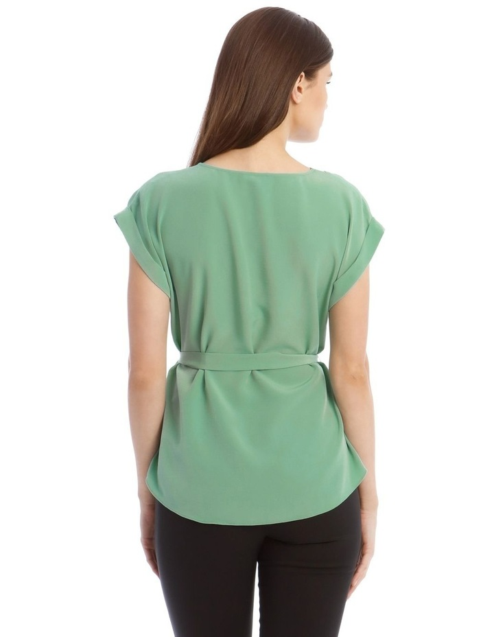 V-Neck Shell Top With Belt image 3
