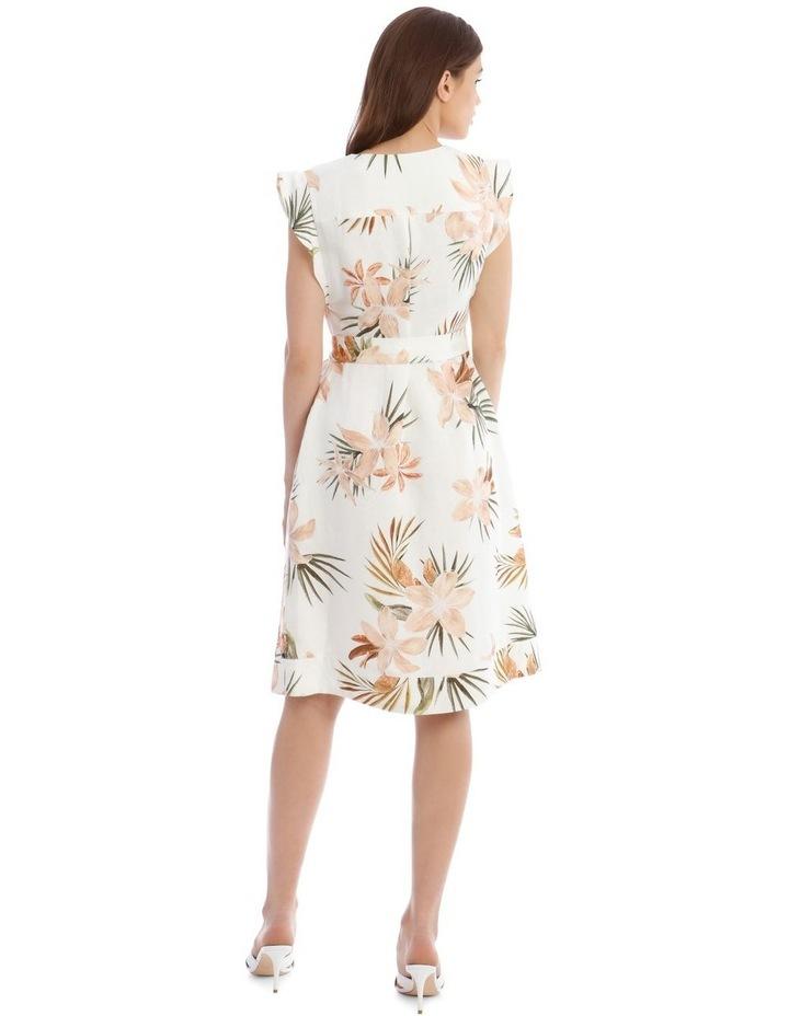 Linen Tropical Button Through Dress image 3