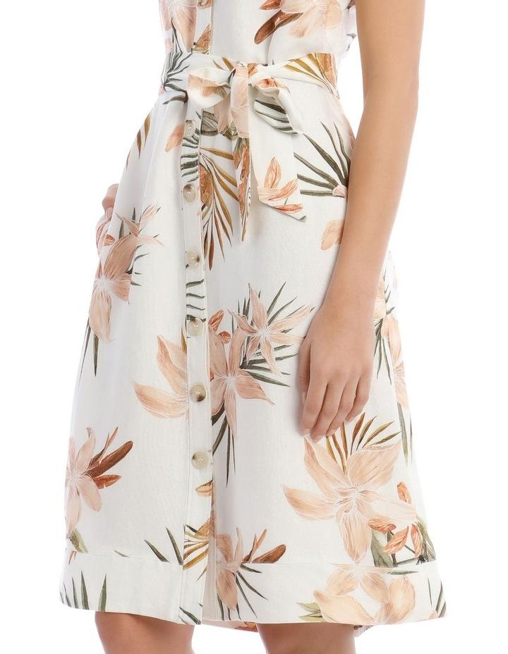 Linen Tropical Button Through Dress image 4