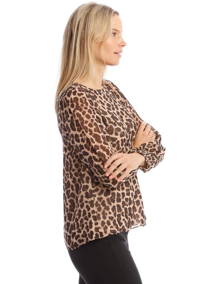 Sheer Sleeve Blouse image 2