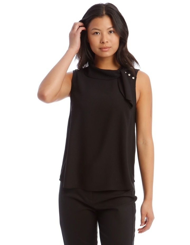 Tie Neck Sleeveless Top image 1