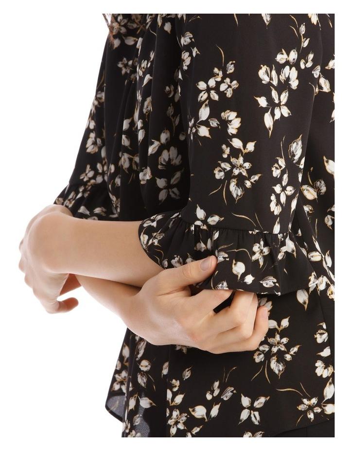 3/4 Ruffle Sleeve Cuff Top image 4