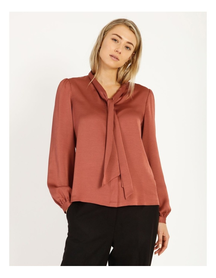 Pussy Bow Button Through Blouse image 1