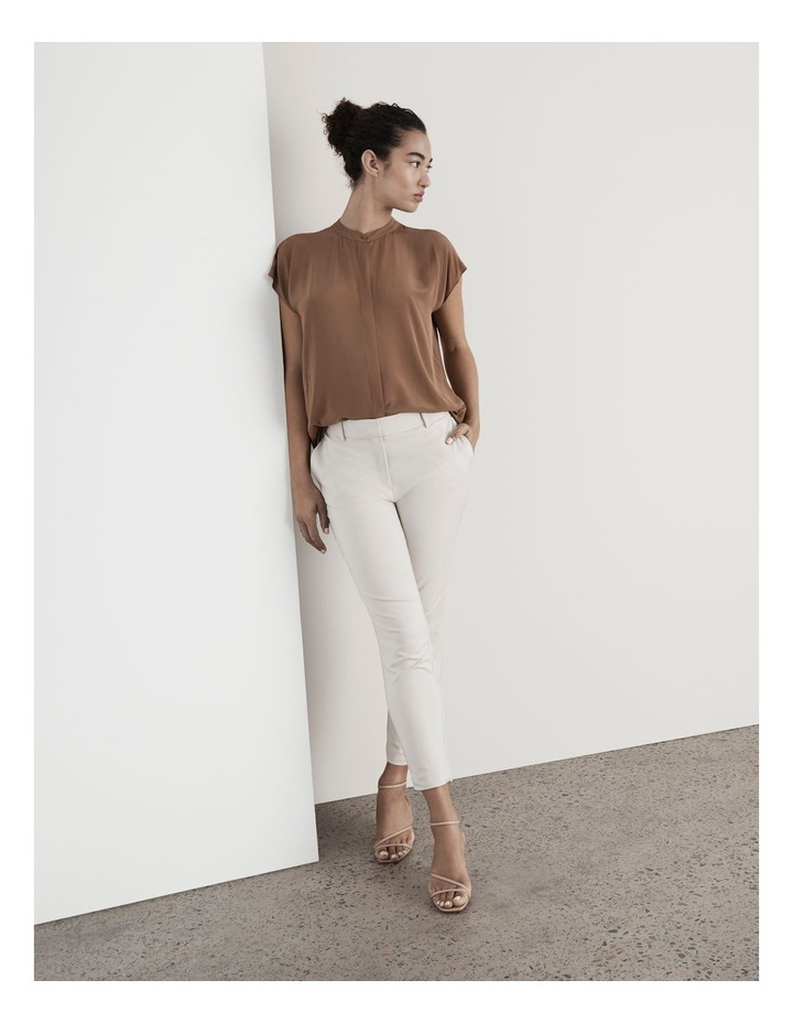 Boxy Grown On Short Sleeve Blouse Rust Brown image 2