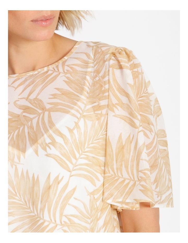 Sheer Flutter Sleeve Top image 4
