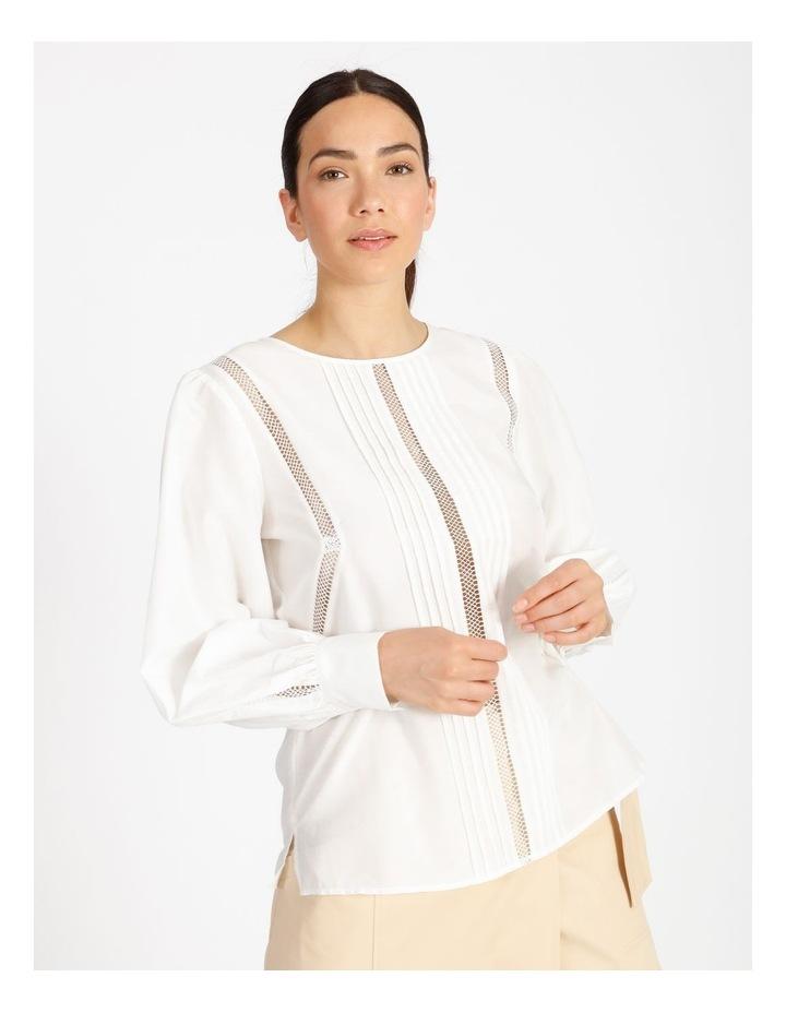 Cotton Silk Trim Blouse image 1