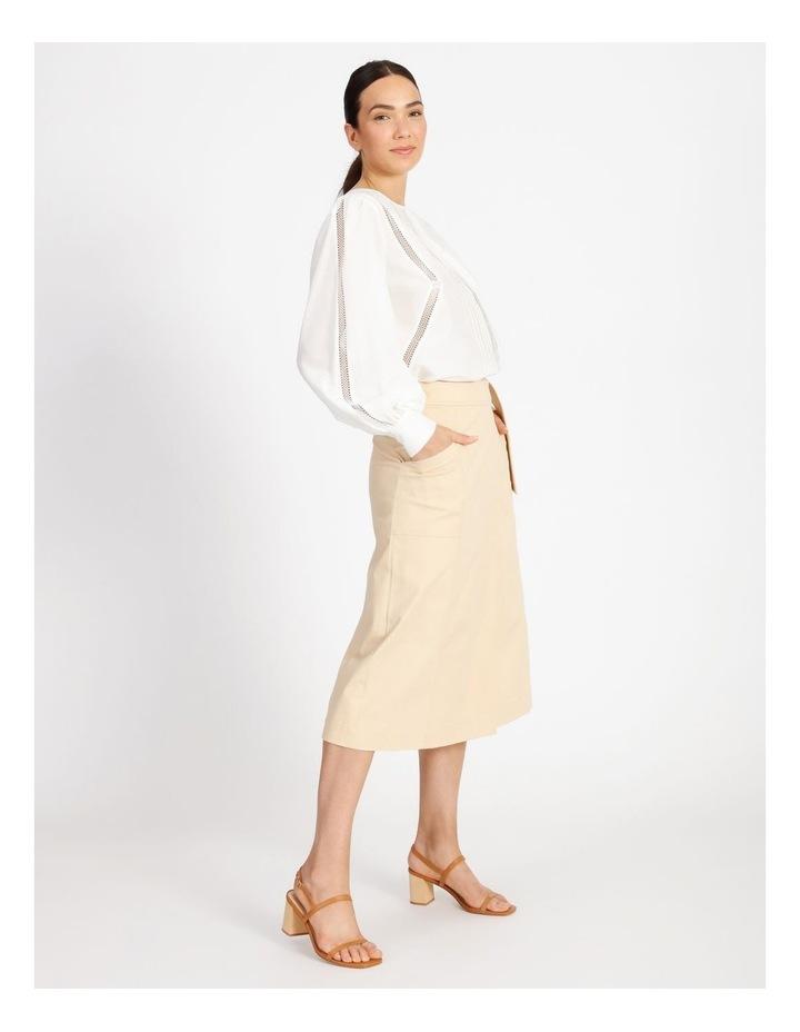 Cotton Silk Trim Blouse image 2