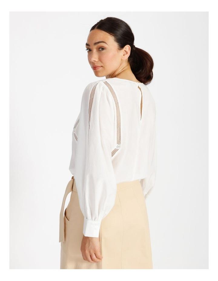 Cotton Silk Trim Blouse image 3