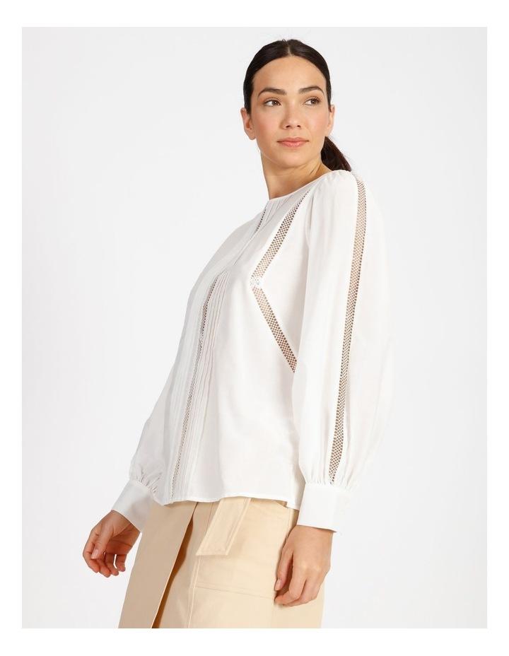 Cotton Silk Trim Blouse image 4