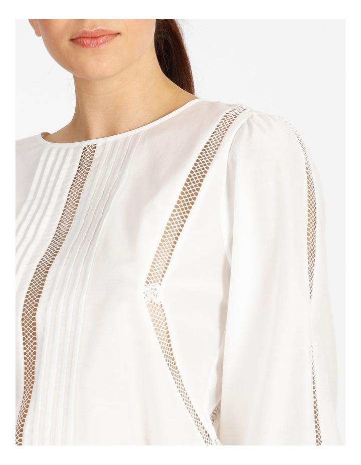 Cotton Silk Trim Blouse image 5