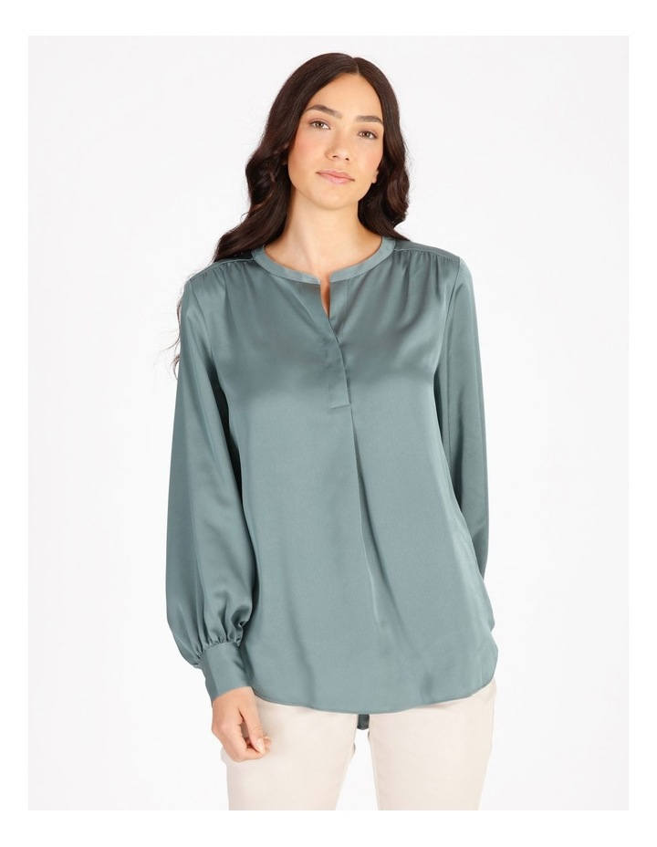Satin Long Sleeve Blouse image 1