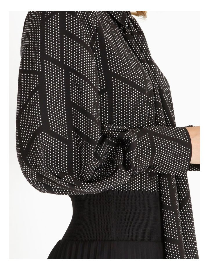 Tie Neck Puff Sleeve Blouse image 4