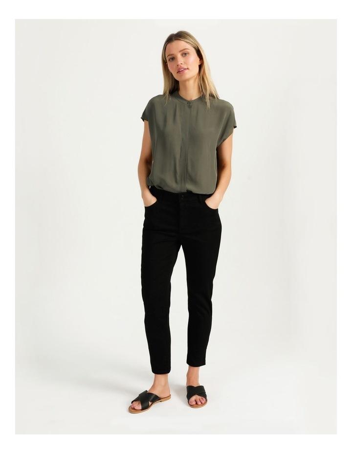 Boxy Grown On Blouse Khaki image 4