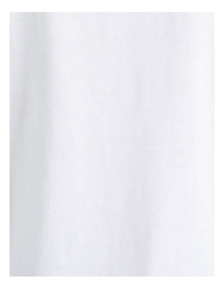 Mercerised Cotton Tee White image 7