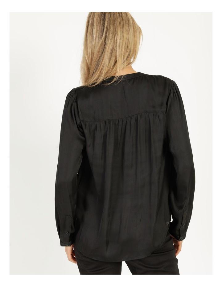 Shirred Shoulder Satin Blouse image 6