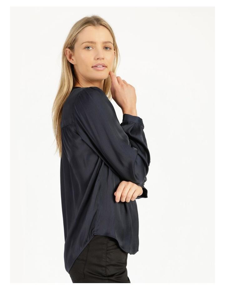 Shirred Shoulder Satin Blouse image 4