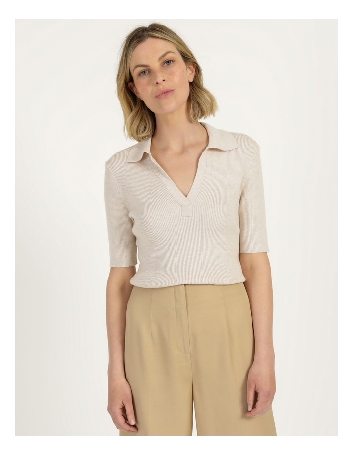 Placket Front Knit Top image 1
