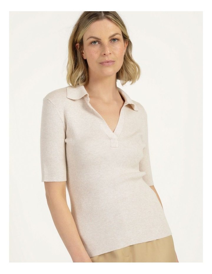 Placket Front Knit Top image 2