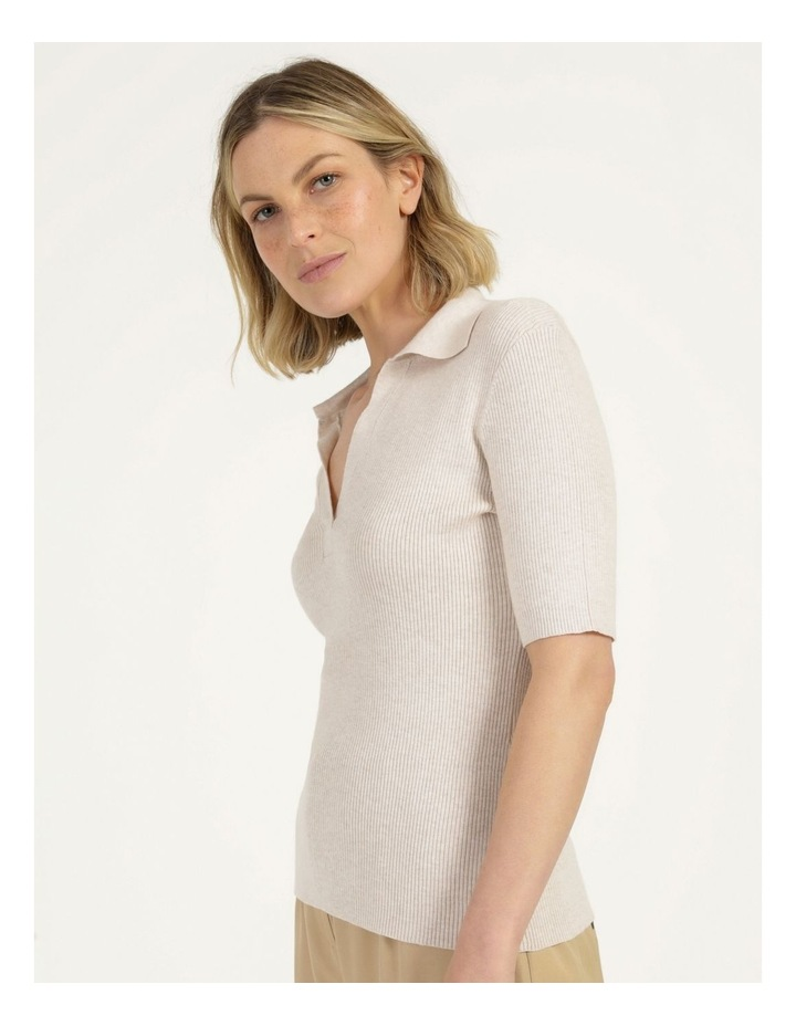 Placket Front Knit Top image 4