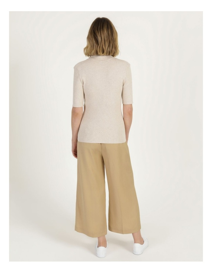 Placket Front Knit Top image 5